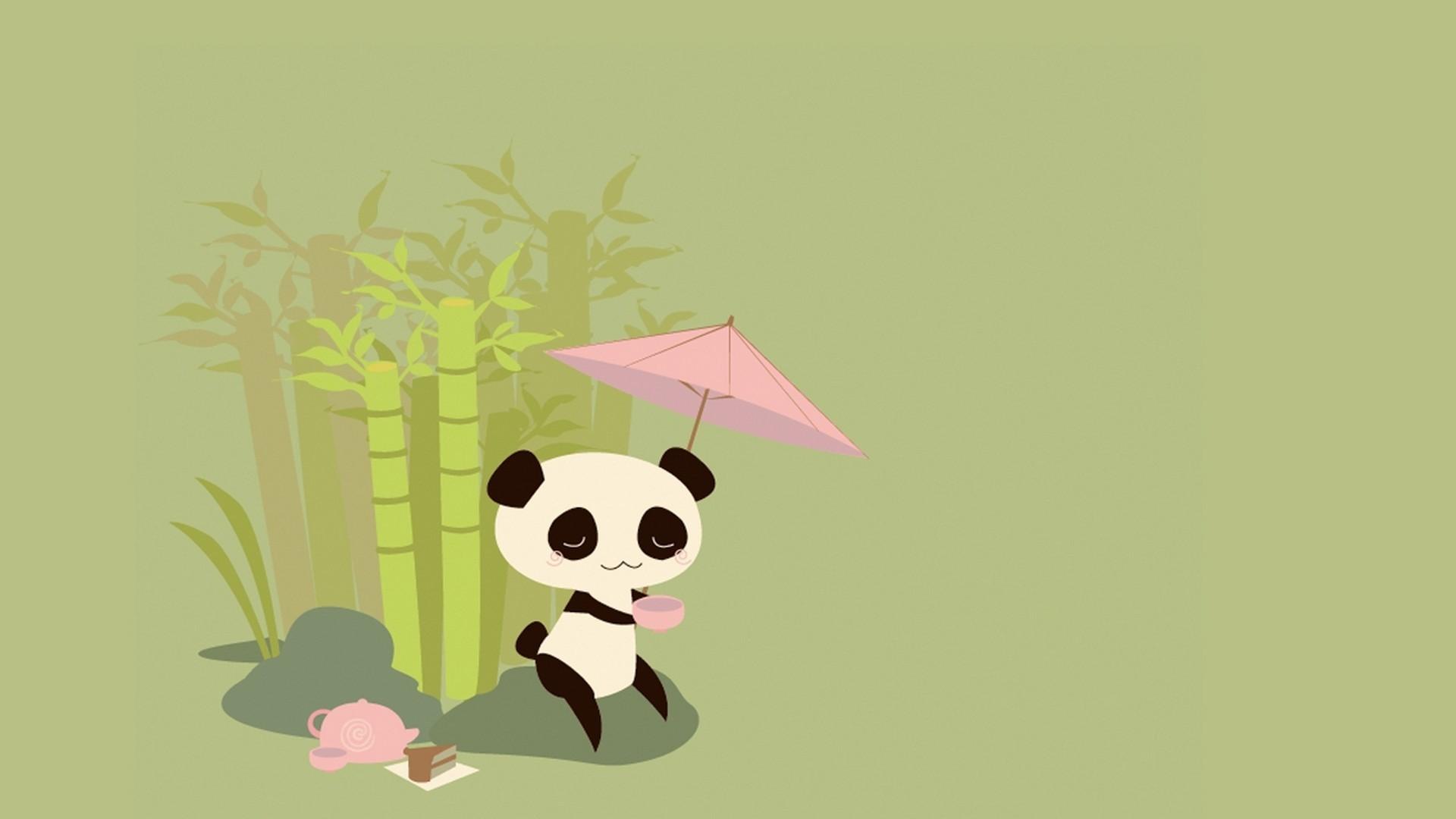 Res: 1920x1080,  Cute Panda Drawing Wallpaper