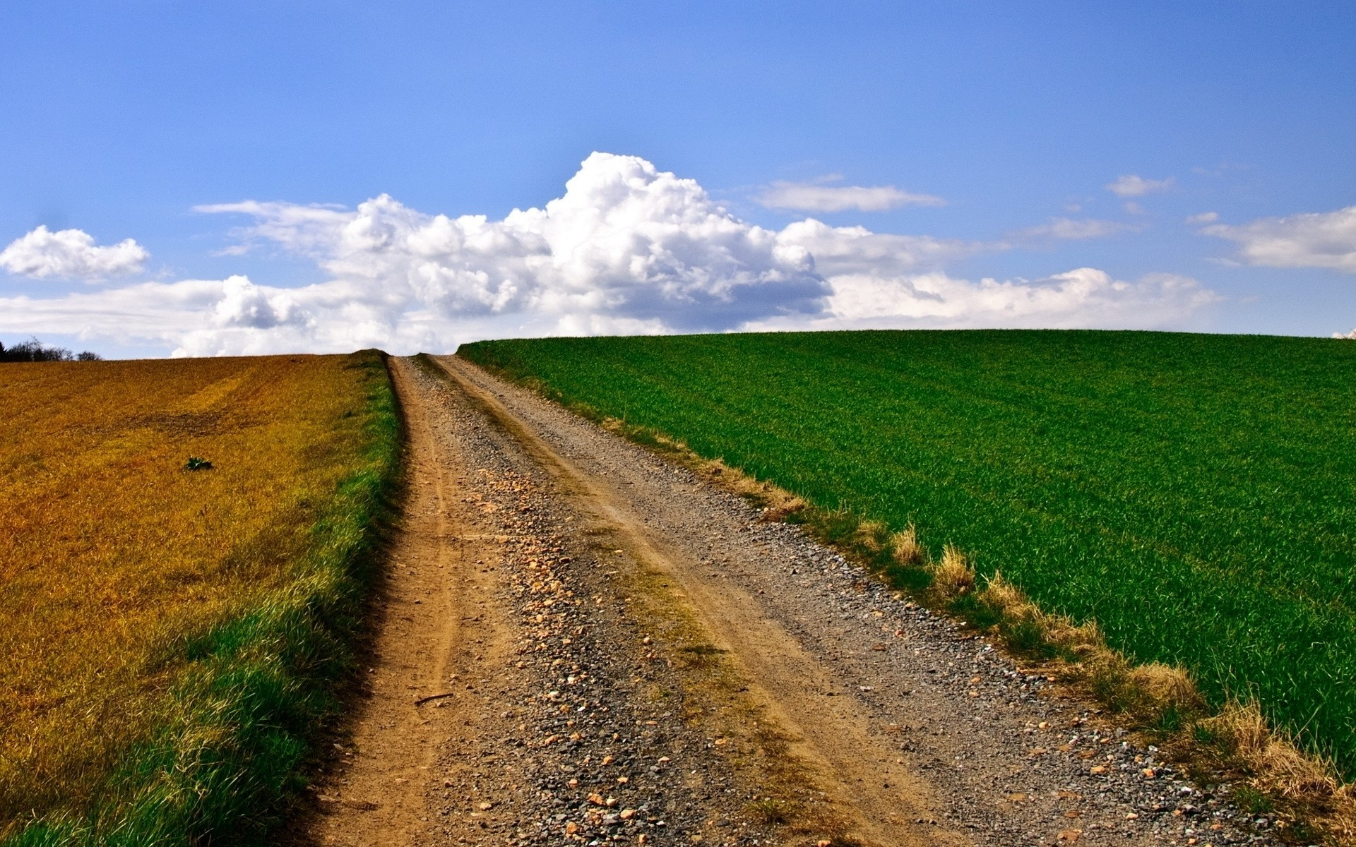 Res: 1920x1200, Image: Lovely Country Road Fields Sky wallpapers and stock photos. Â«