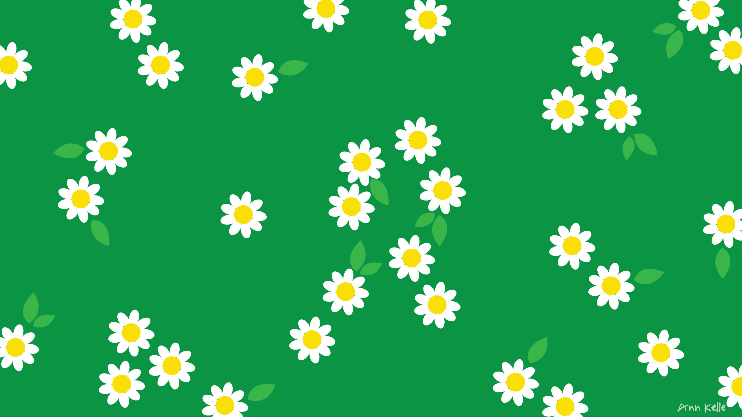 Res: 2560x1440, Download Yellow Floral HERE