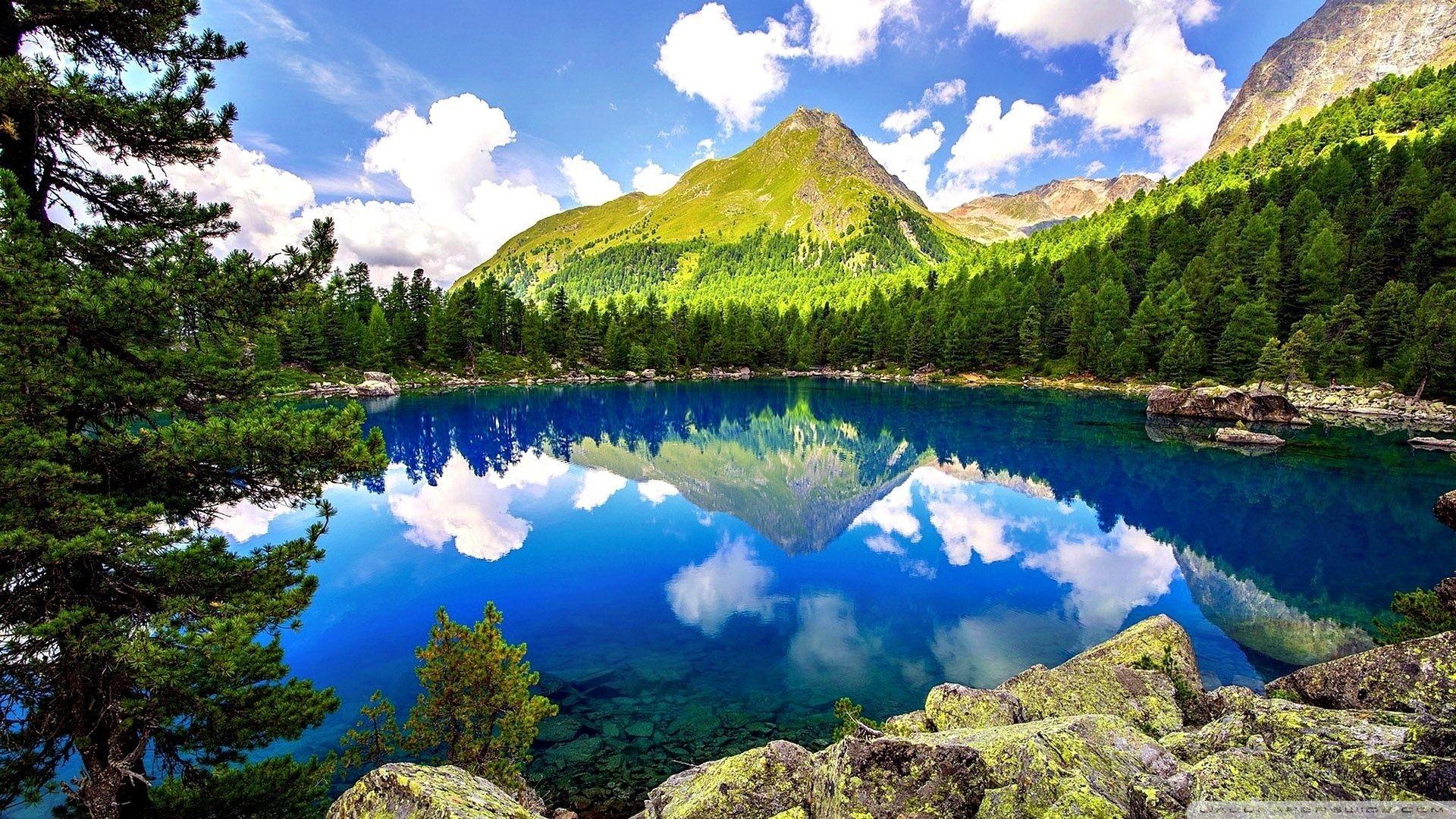 Res: 1920x1080, Spring Mountain Landscape HD desktop wallpaper : High Definition