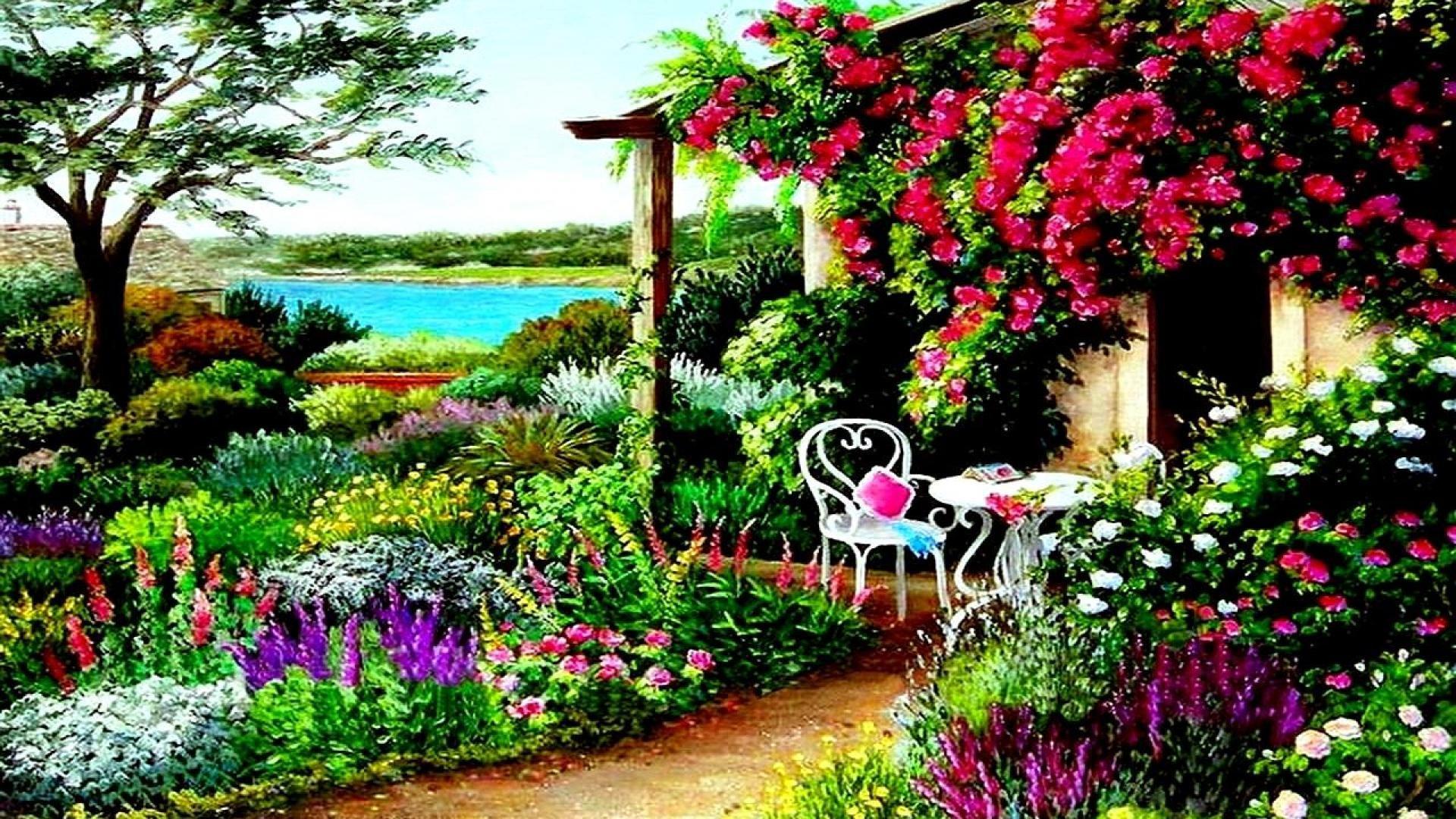 Res: 1920x1080, Spring Garden Desktop Wallpapers ~ Toptenpack.com