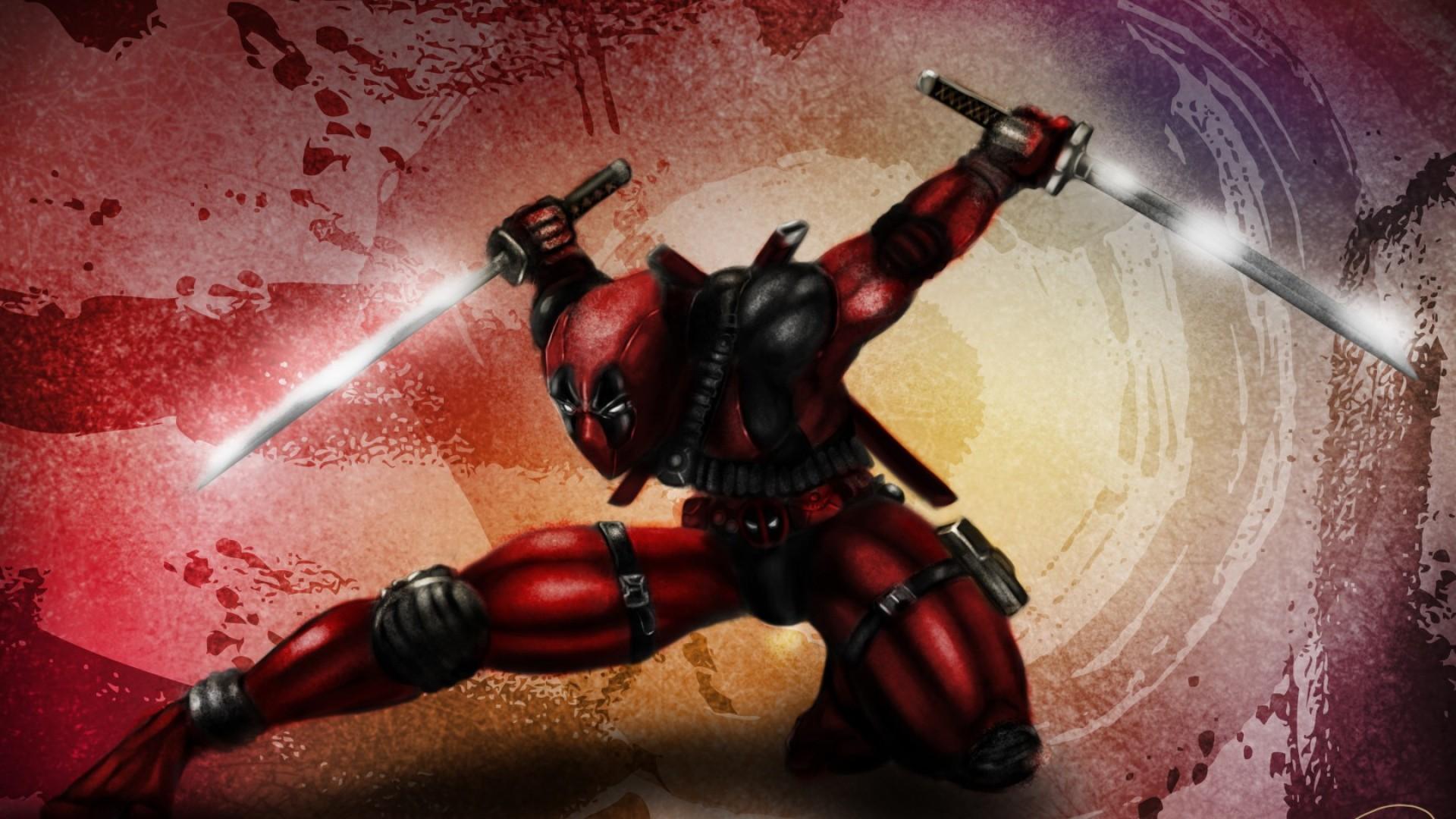 Res: 1920x1080, Deadpool High moon studios Mask Gun Red suit Full HD 1080p HD