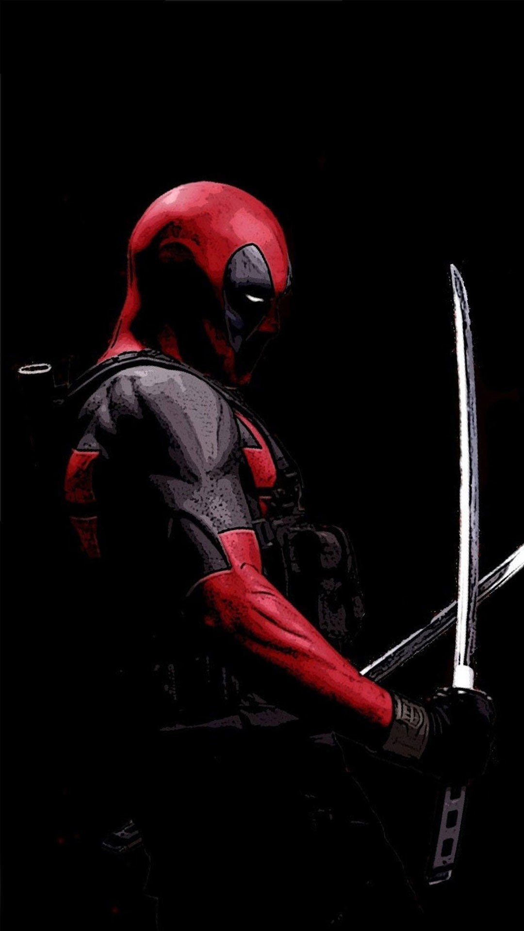 Res: 1080x1920, Deadpool with his swords