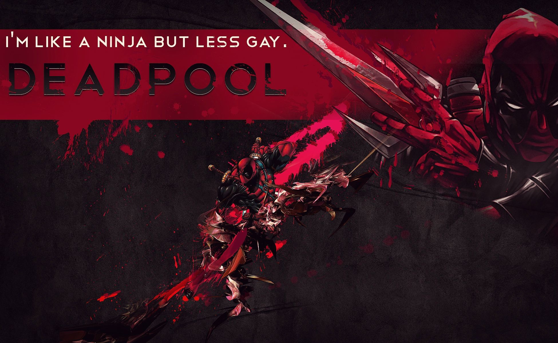 Res: 1950x1200, deadpool-ninja