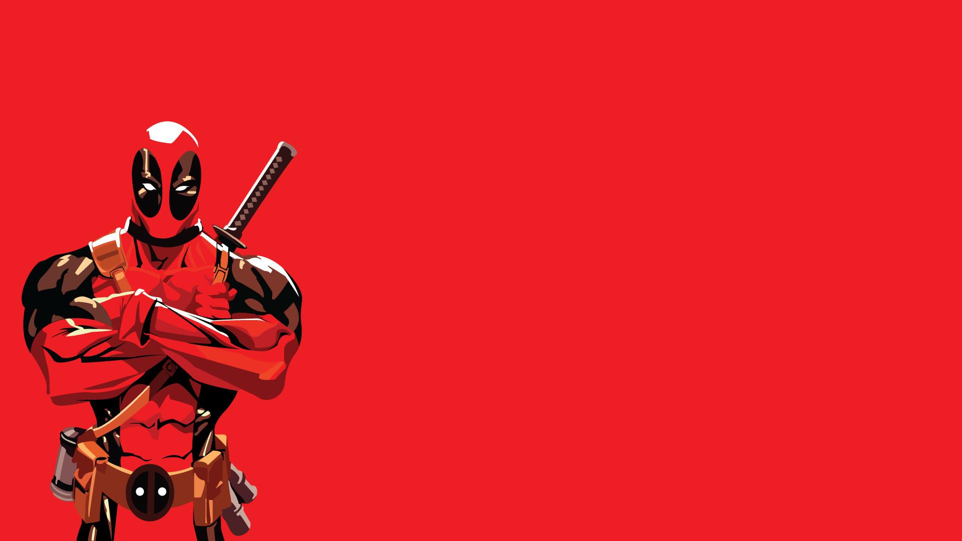 Res: 1920x1080, deadpool wallpaper red