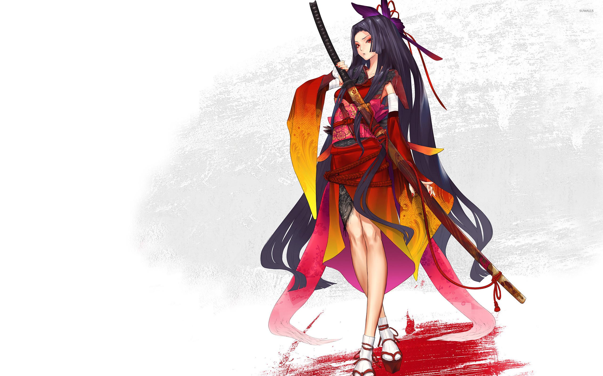 Res: 2560x1600, Sen Tokugawa - Hyakka Ryoran: Samurai Girls wallpaper