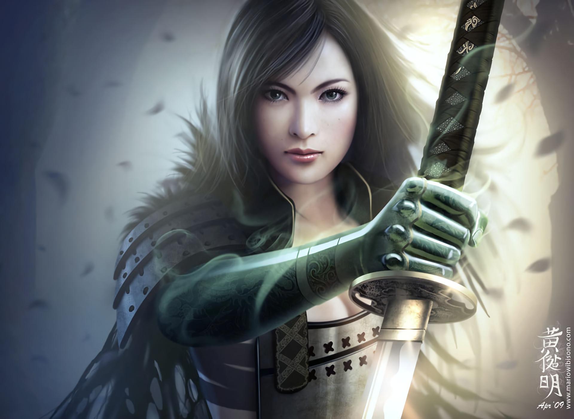 Res: 1920x1402, Fantasy - Legend Of The Five Rings Samurai Fantasy Girl Woman Warrior Armor  Wallpaper