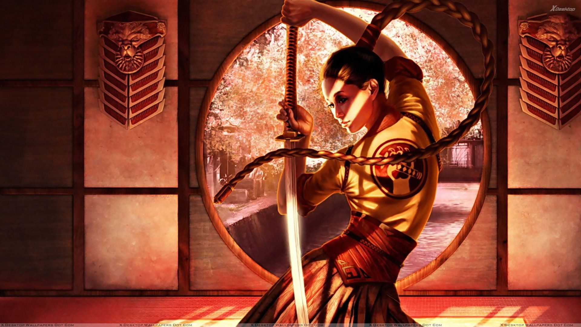 """Res: 1920x1080, You are viewing wallpaper titled """"Samurai Girl ..."""