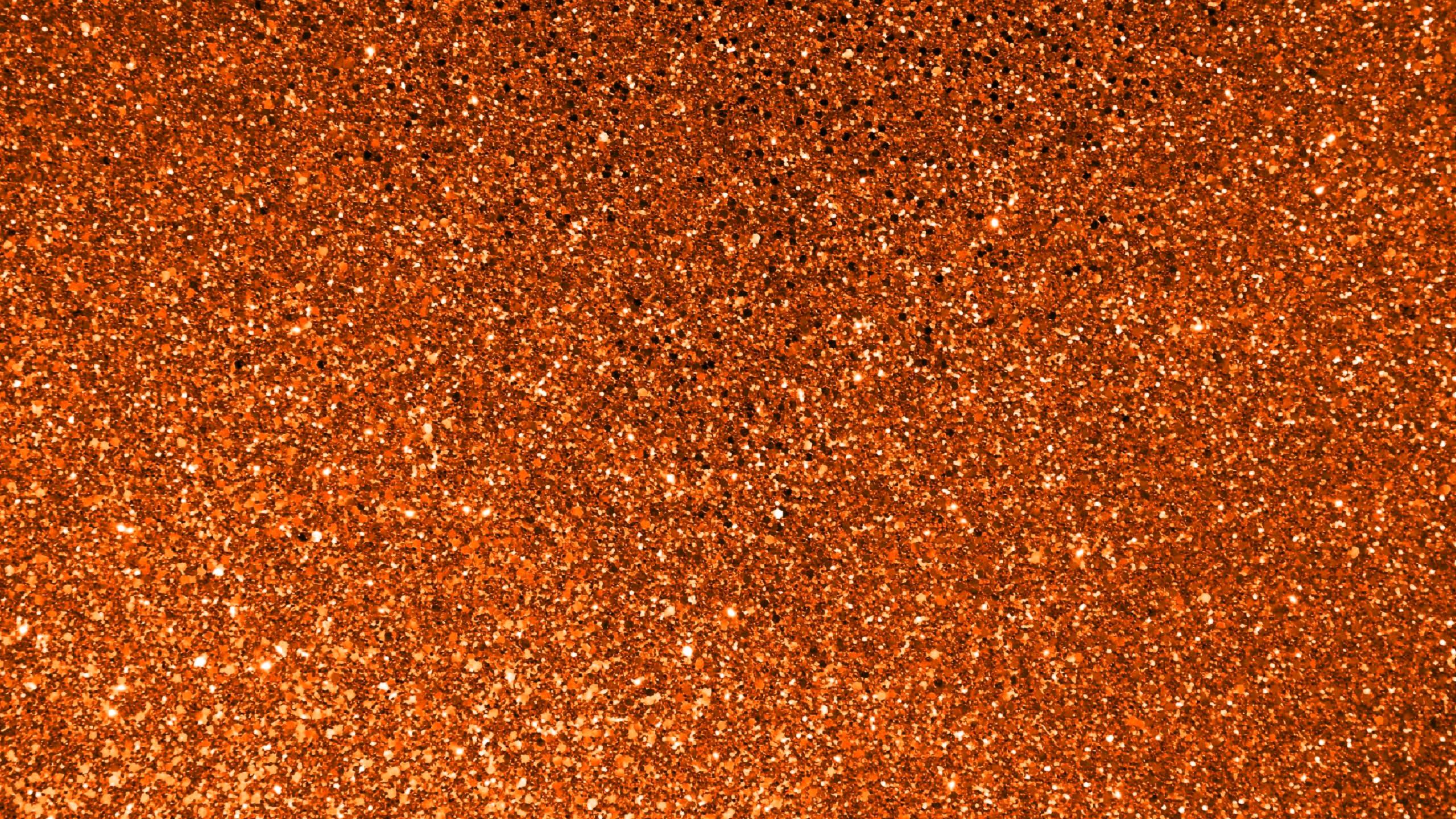 Res: 2560x1440, Orange glitter background