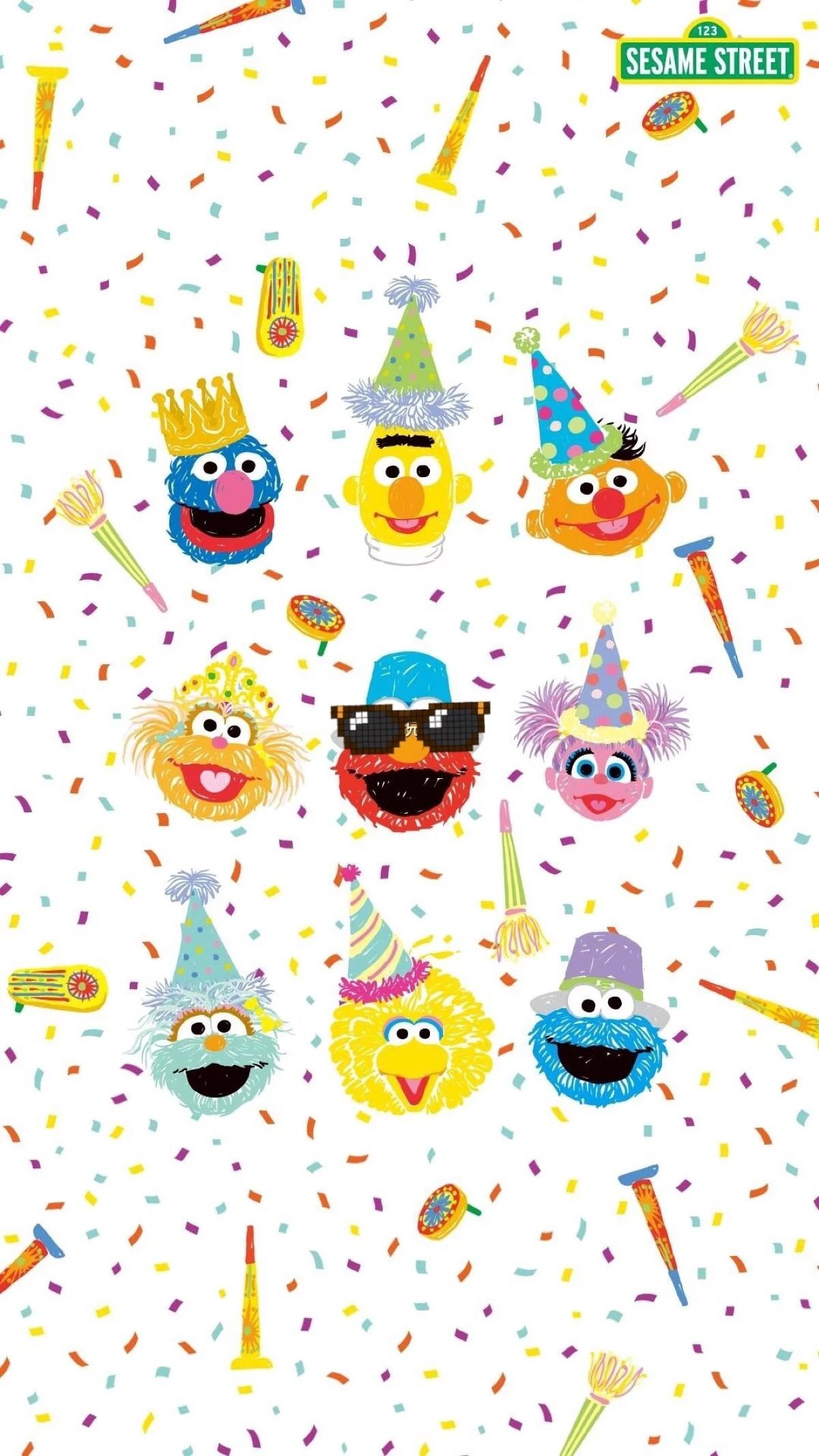 Res: 1200x2133, Cartoon Background, Wallpaper Patterns, Sesame Streets, Iphone Wallpapers,  Cartoon Network, Sanrio, Ios, Android, Backgrounds