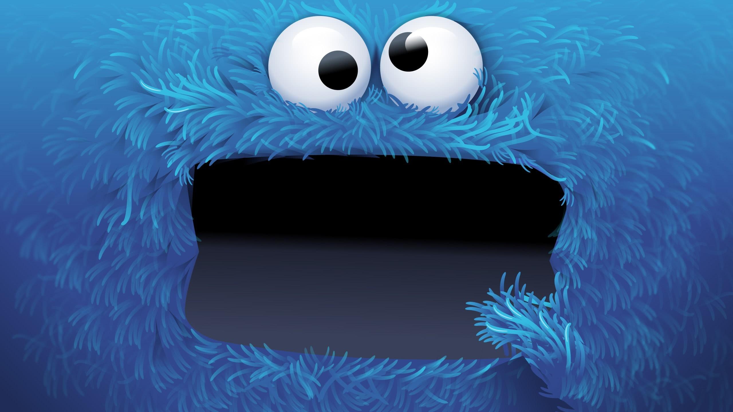 Res: 2560x1440, sesame street cookie monster wqhd 1440p wallpaper