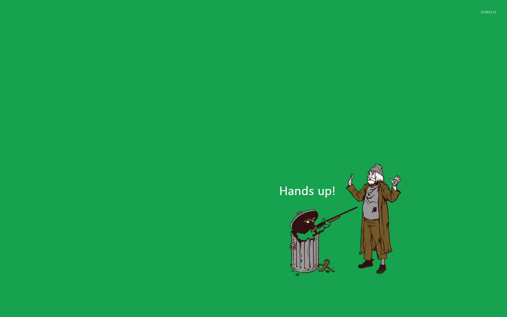 Res: 1920x1200, Oscar the Grouch Hold-up wallpaper · Funny · Sesame Street ...