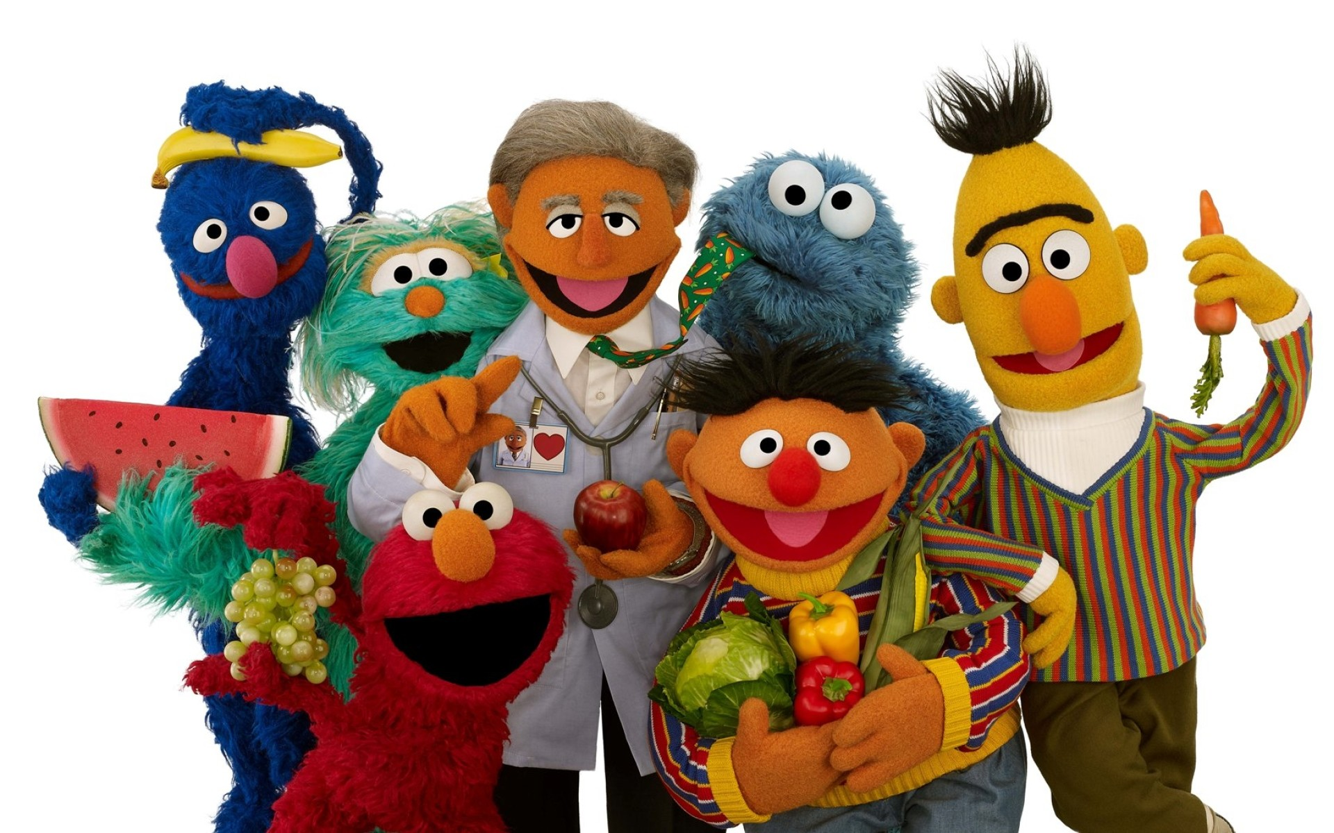 Res: 1920x1200, Image: Sesame Street Three wallpapers and stock photos. Â«
