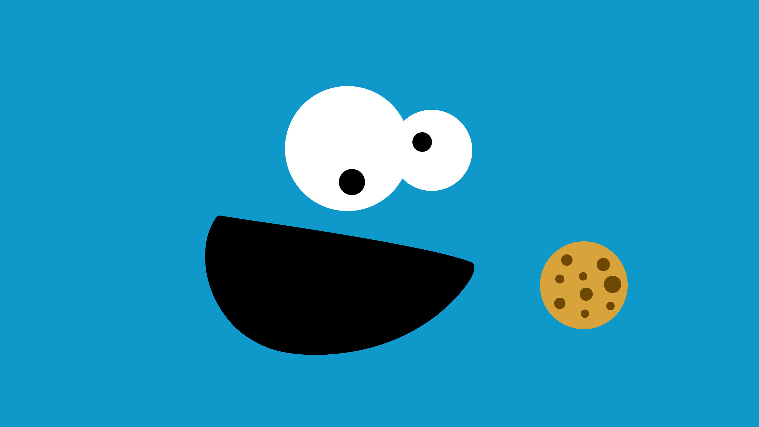 Res: 2560x1440, minimalism, Cookie Monster, Sesame Street Wallpapers HD / Desktop and  Mobile Backgrounds