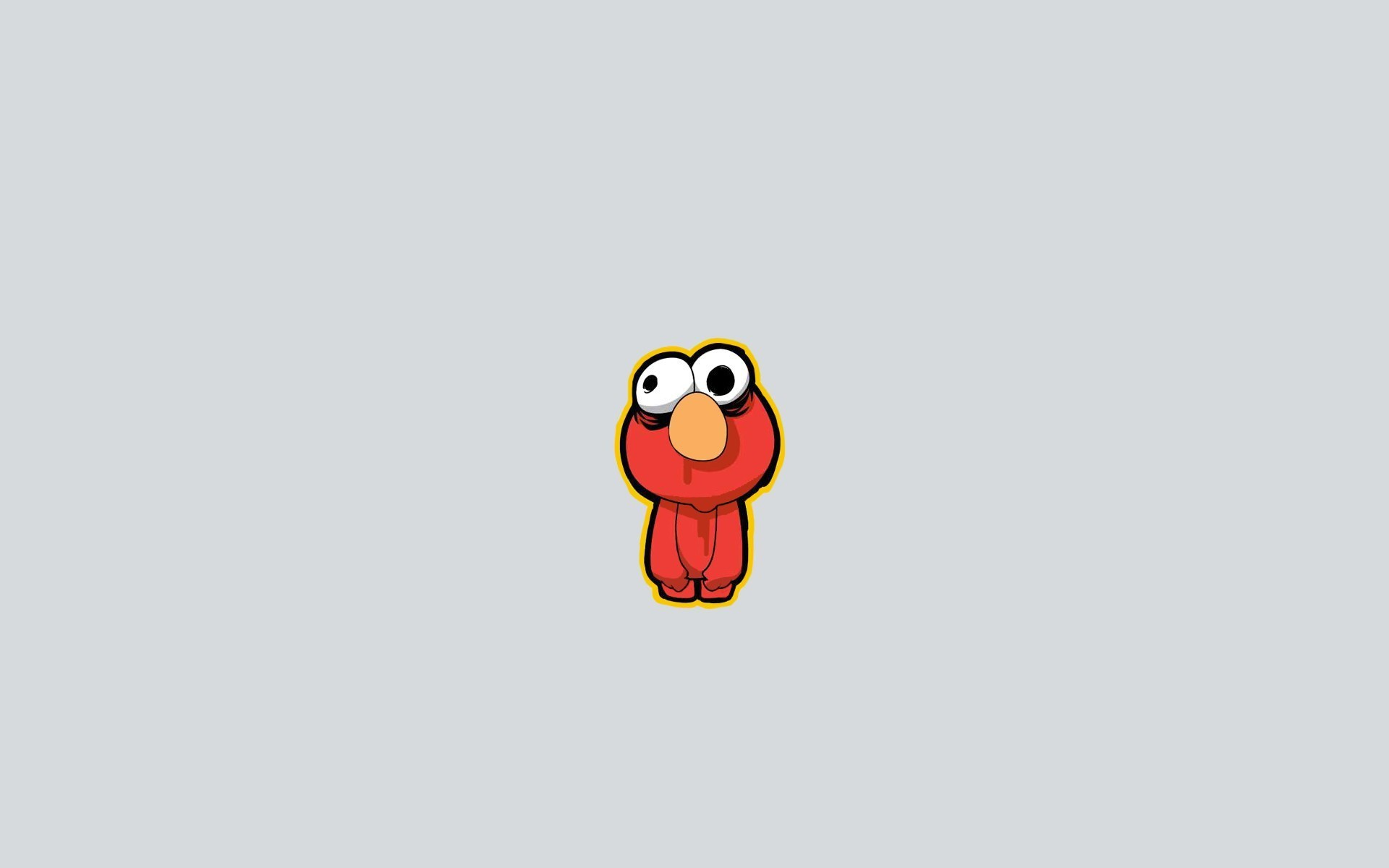 Res: 1920x1200, Elmo from Sesame Street, a gray background