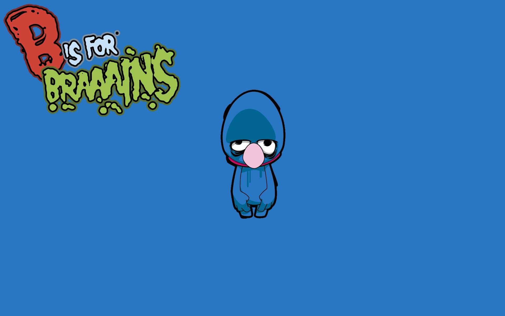 Res: 1920x1200, Tv cartoons zombies brain sesame street grover wallpaper |  |  16521 | WallpaperUP