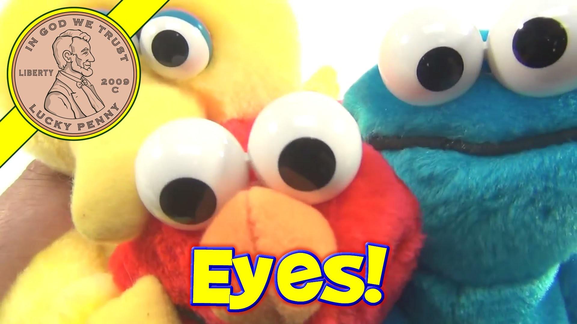 Res: 1920x1080, Sesame Street Big Bird, Cookie Monster and Elmo Plush Dolls, 1995 Tyco Toys  - YouTube