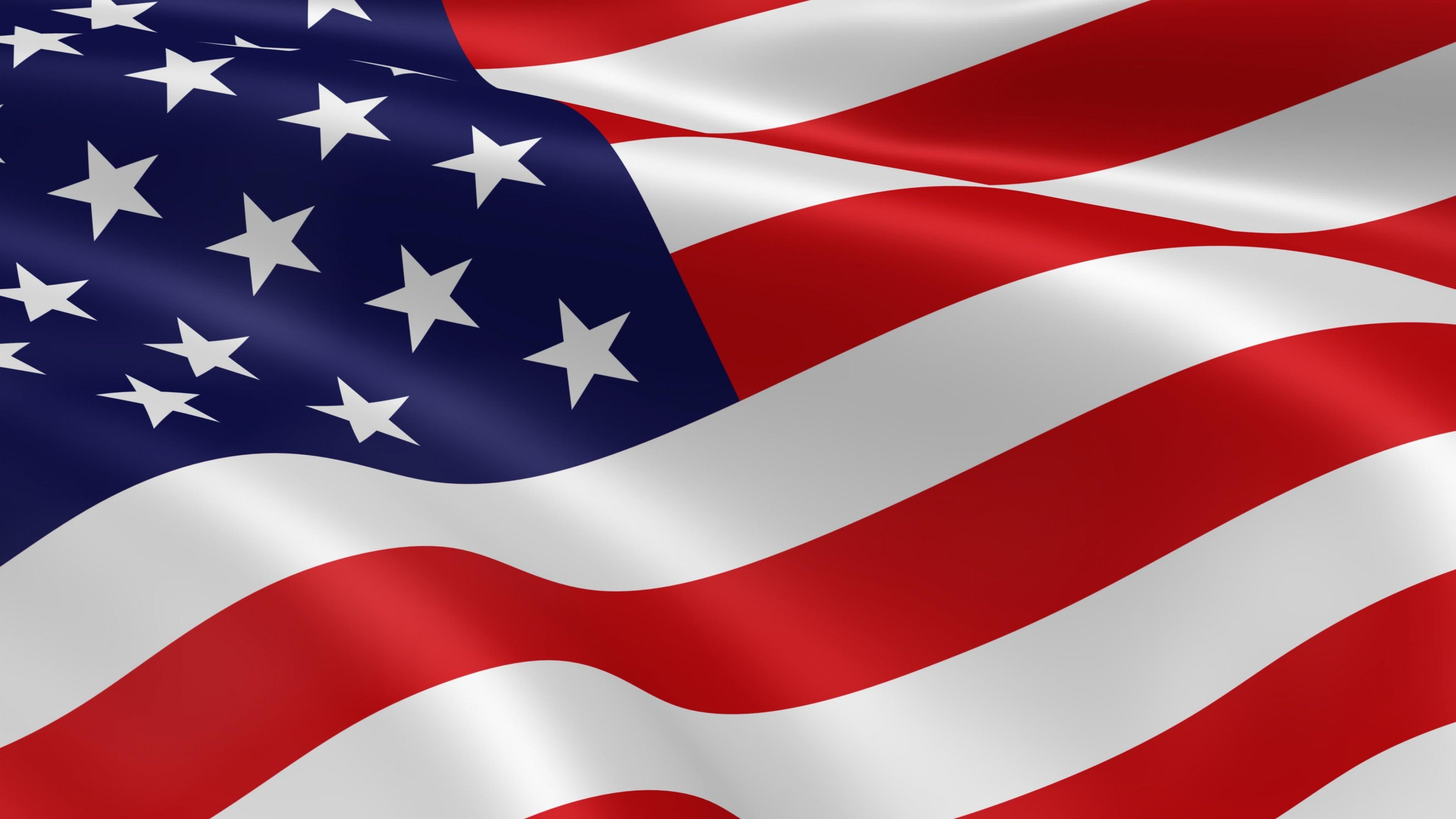 Res: 3840x2160, World / USA Flag Wallpaper
