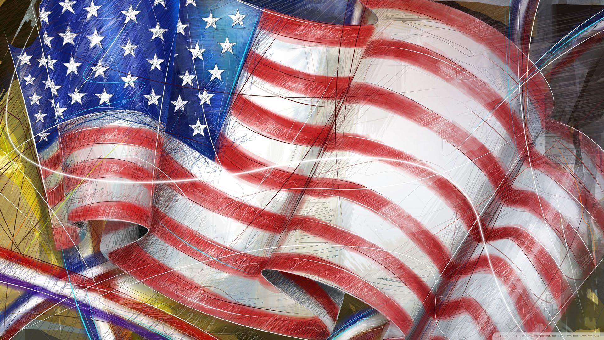 Res: 1920x1080, Usa Flag Wallpaper  - www.