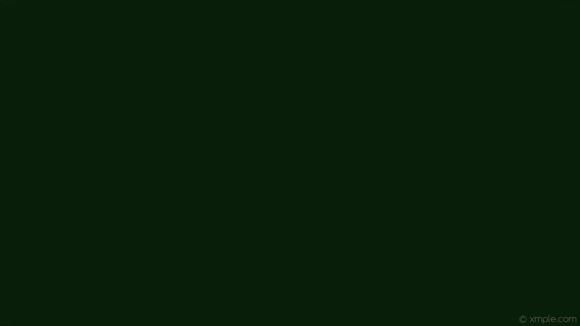 Res: 1920x1080, wallpaper green single one colour solid color plain dark green #0a1f09