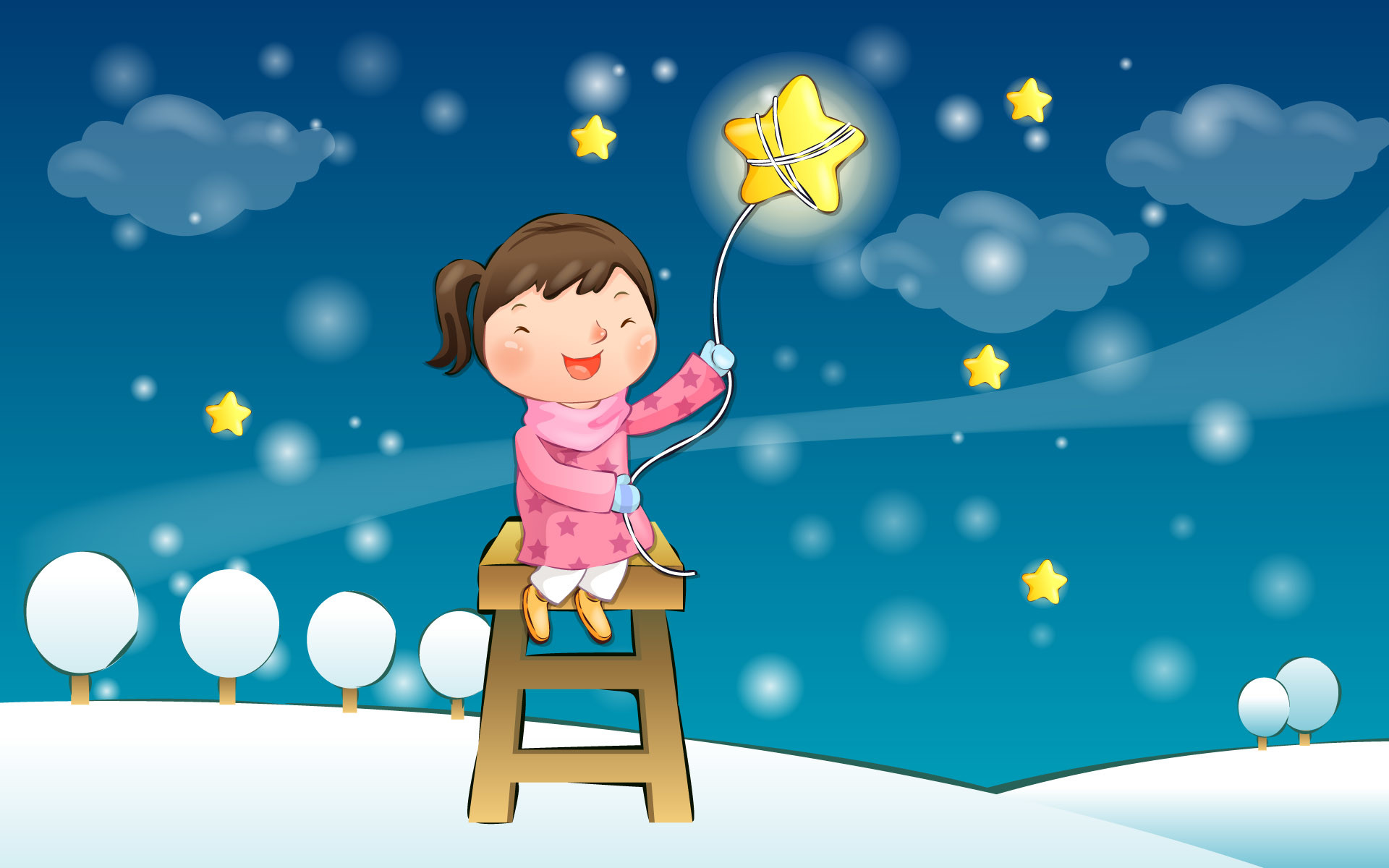 Res: 1920x1200, Cute Winter wallpapers Illustrations