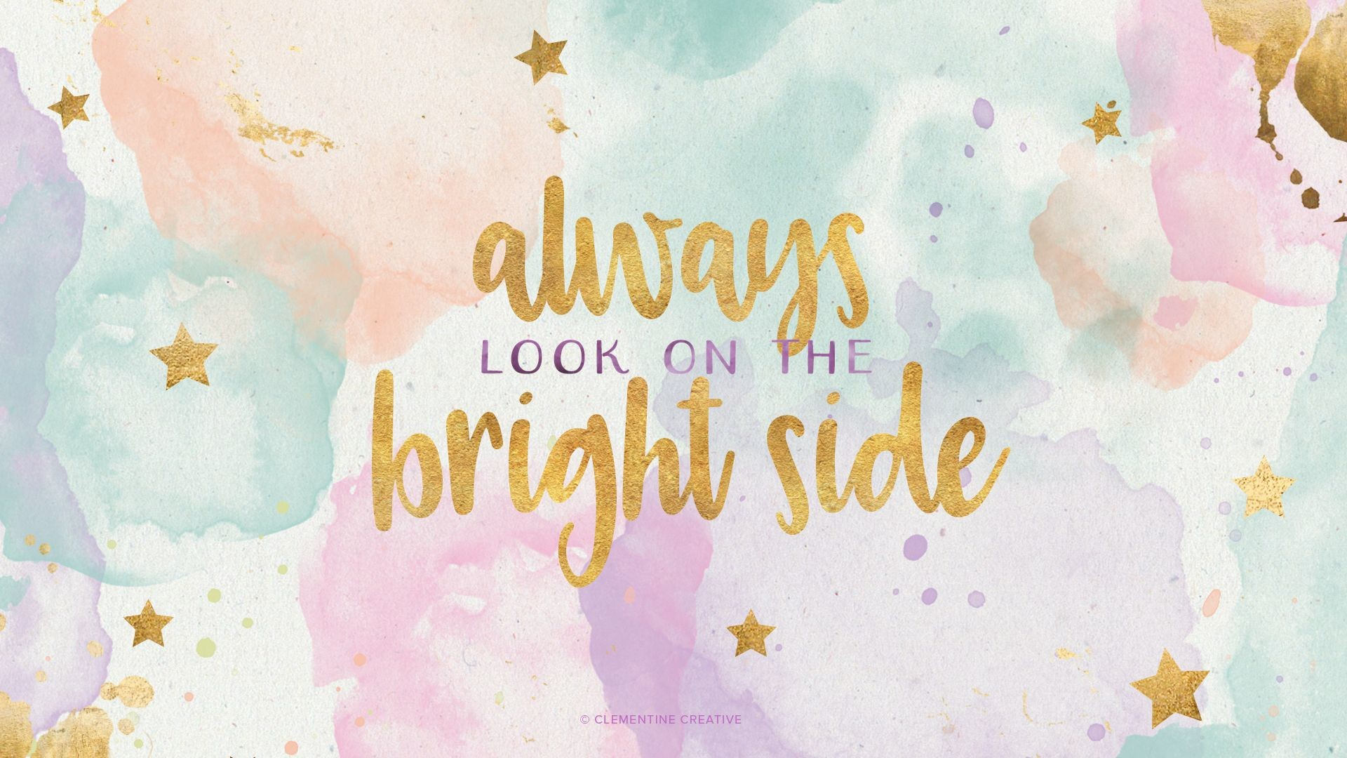 Res: 1920x1080, Pinterest Cute Desktop Wallpaper | Free Wallpaper: Always Look on the  Bright Side