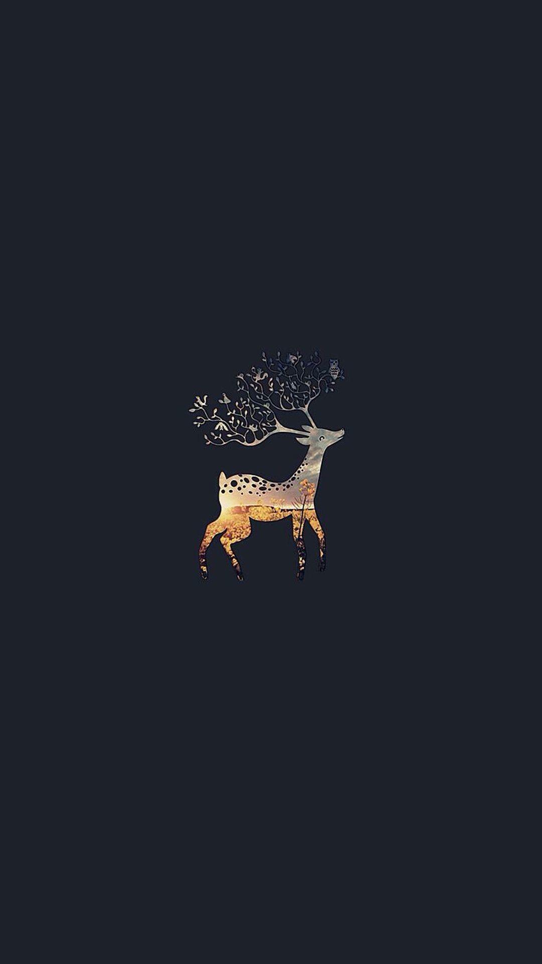 Res: 1080x1920, Deer Branch Horns #iPhone #6 #wallpaper