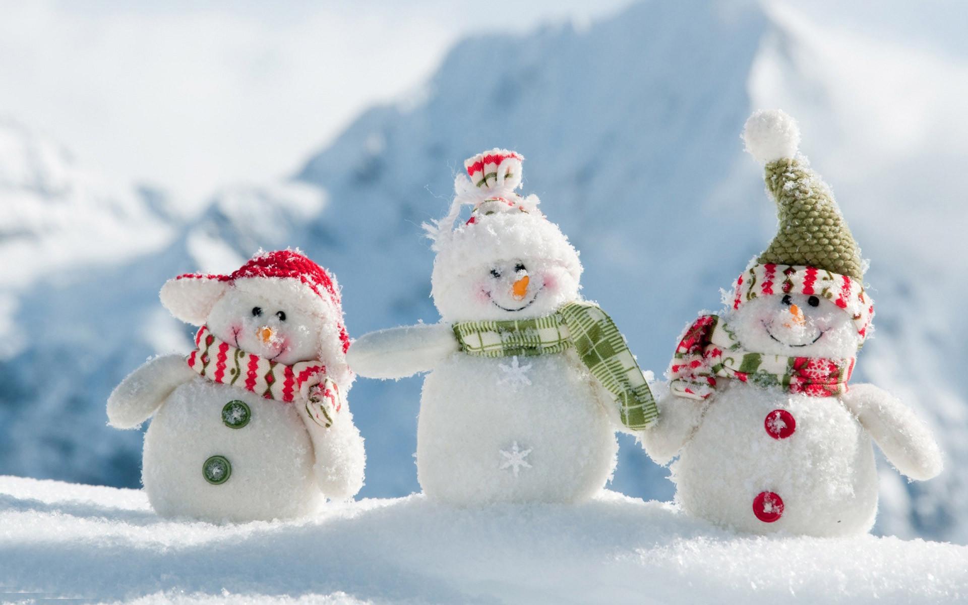 Res: 1920x1200, Cute-Snowmen-Free-Wallpaper-for-Desktop