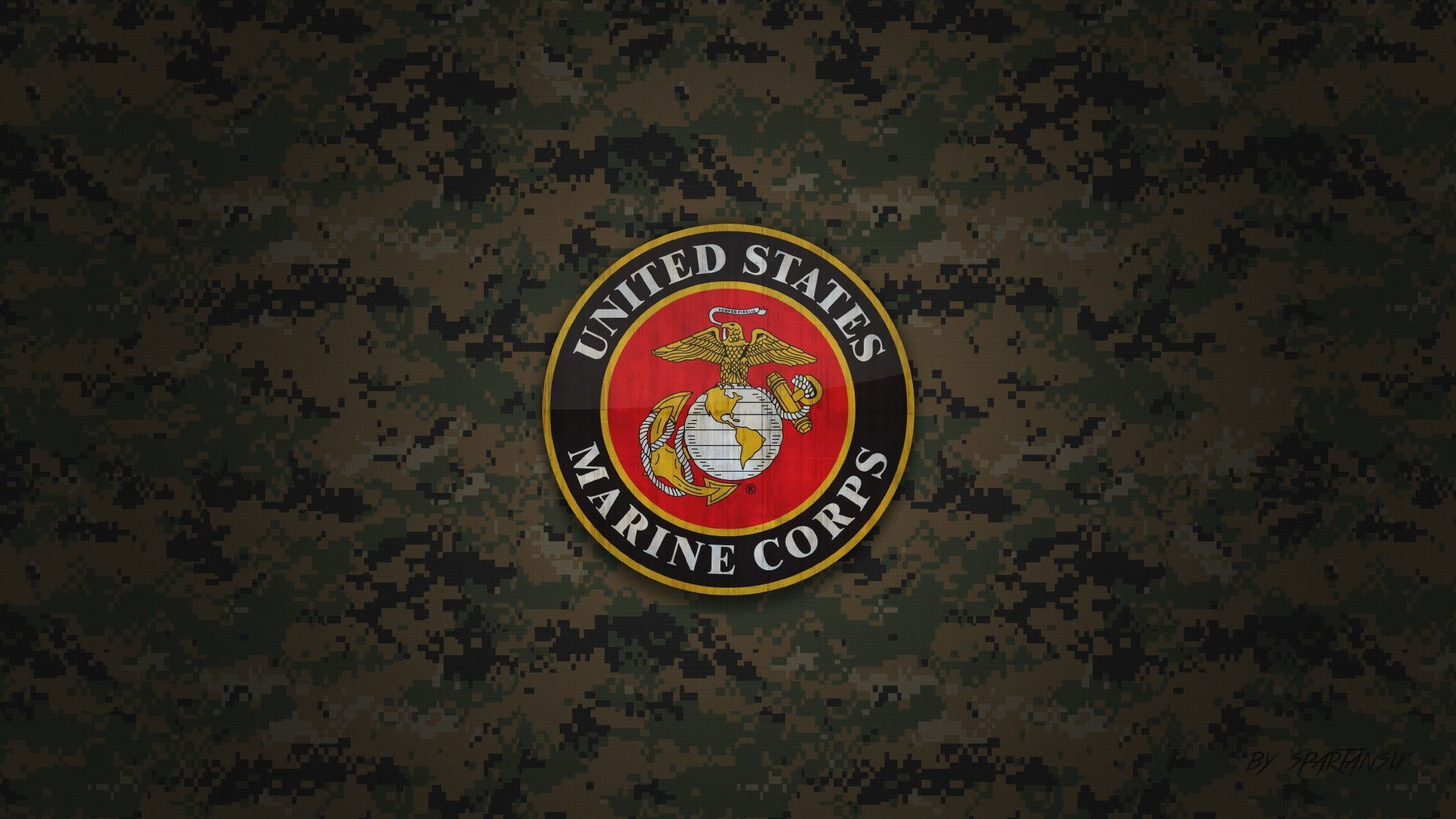Res: 1920x1080,  US Marine Corps Wallpaper by SpartanSix by SpartanSix on  DeviantArt