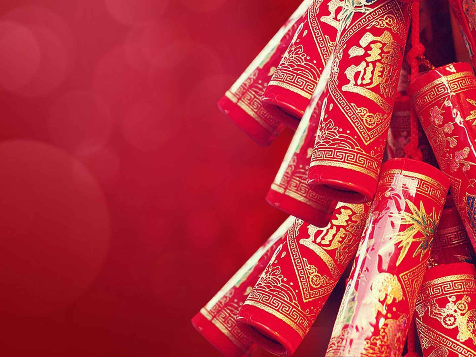 Res: 1920x1440, Holiday - Chinese New Year Fireworks Red Close-Up Wallpaper