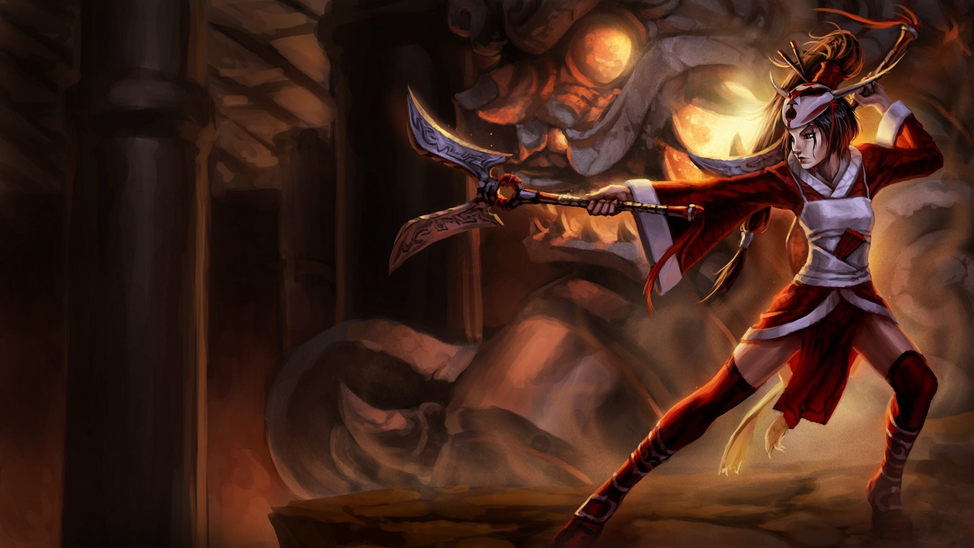 Res: 1920x1080, League of Legends Blood Moon Akali Chinese