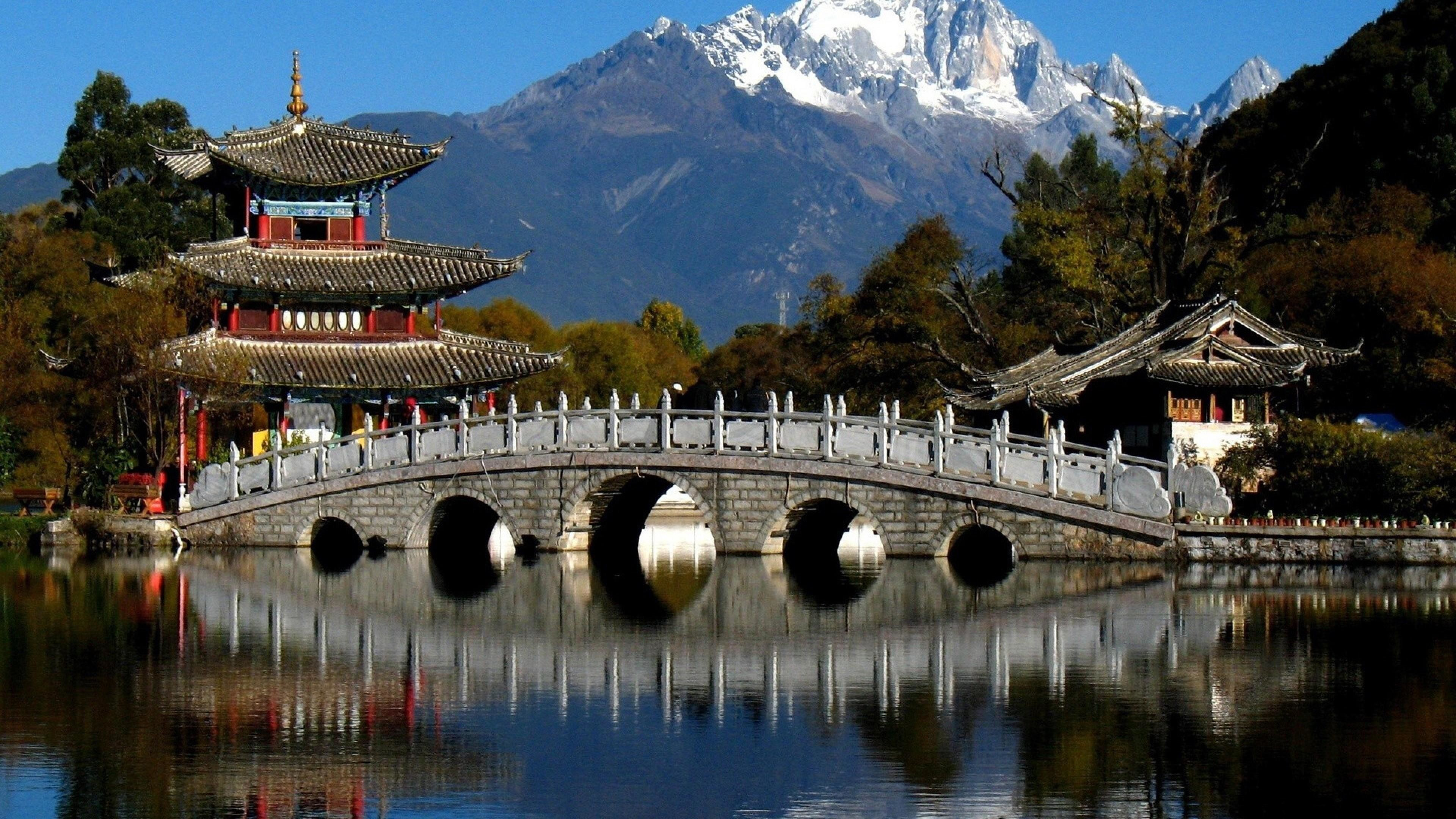 Res: 3840x2160, Black Dragon Pool Park, Lijiang, China Wallpaper | Wallpaper Studio 10 |  Tens of thousands HD and UltraHD wallpapers for Android, Windows and Xbox