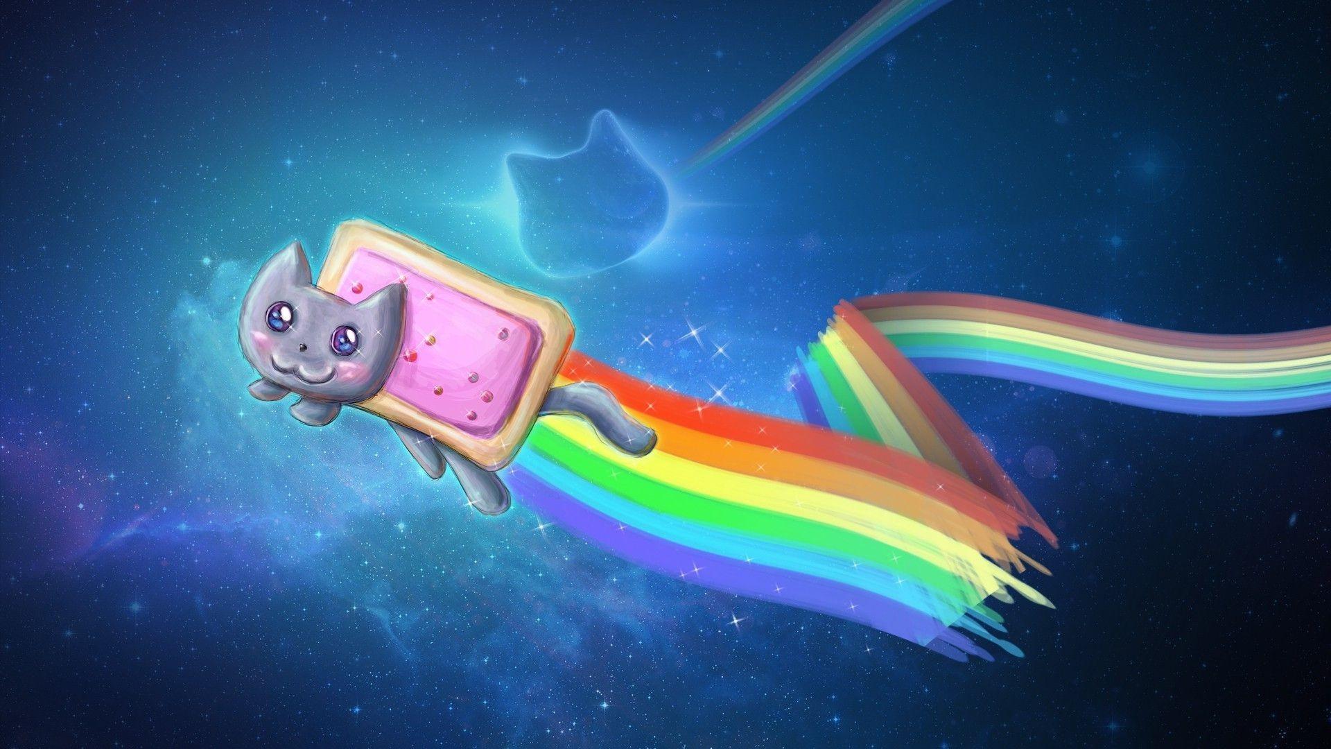 Res: 1920x1080, Download wallpaper Nyan Cat: Full ...