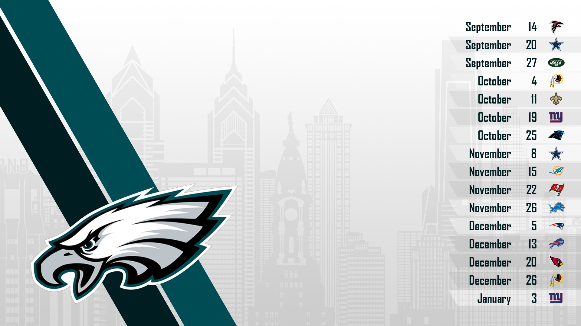 Res: 1920x1080, Download Eagles for iPhone 5 Here ya go! Philadelphia Eagles 2017 schedule  turf football logo wallpaper ...