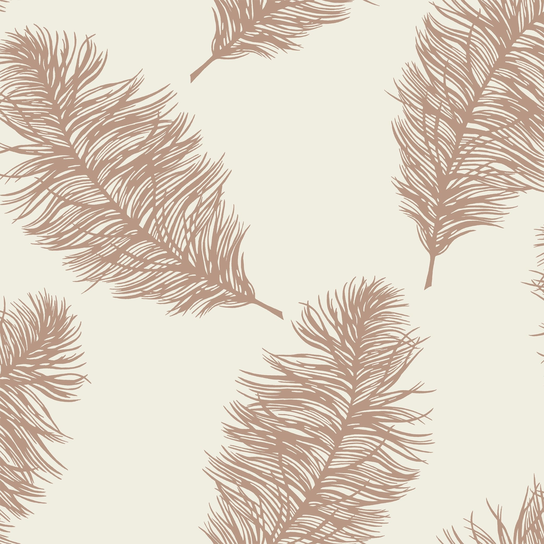 Res: 2087x2087, Holden Statement Wallpaper - Fawning Feather Cream and Rose Gold- 1262.