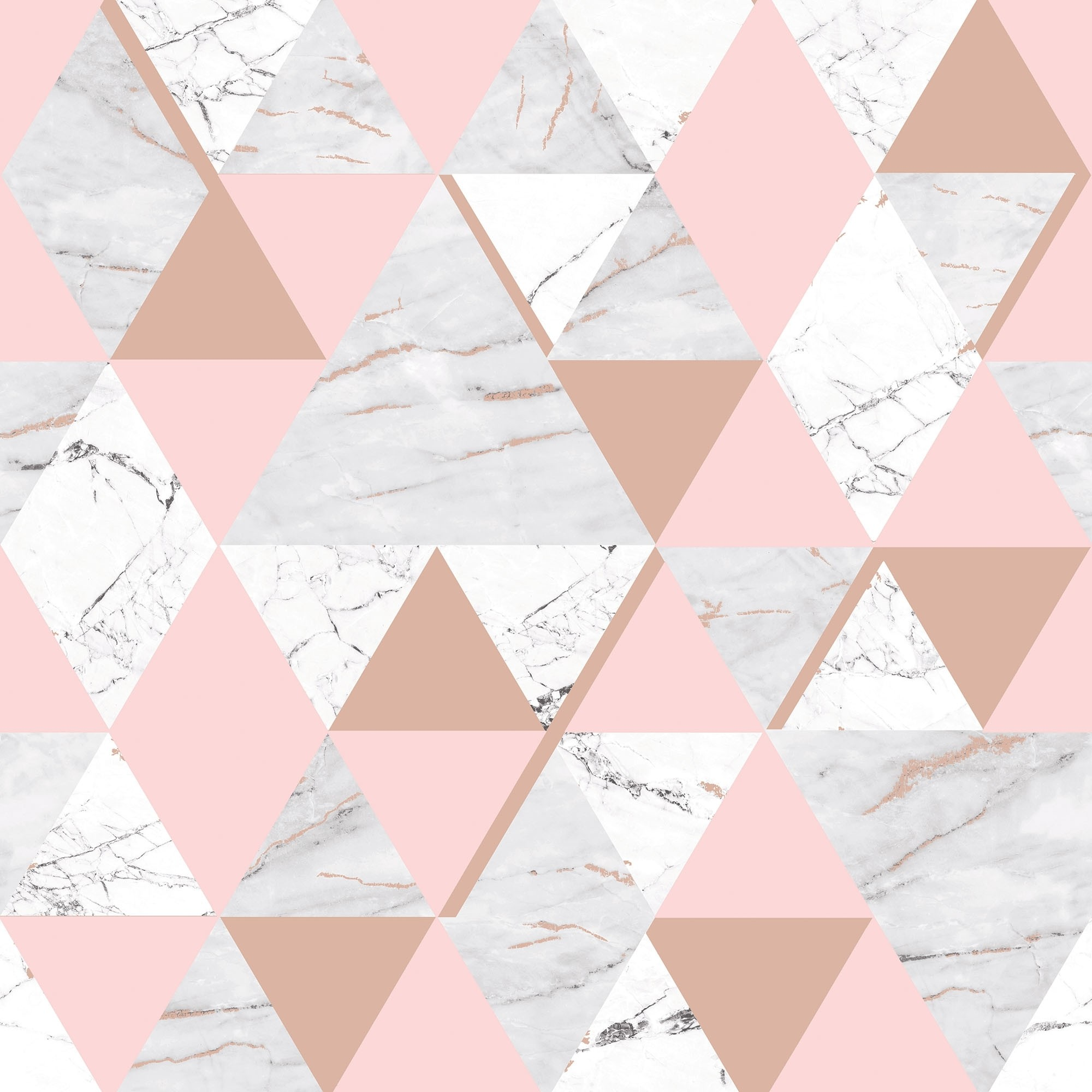 Res: 2000x2000, House of Alice Onyx Marble Metallic Wallpaper Soft Pink, Rose Gold (H980567)