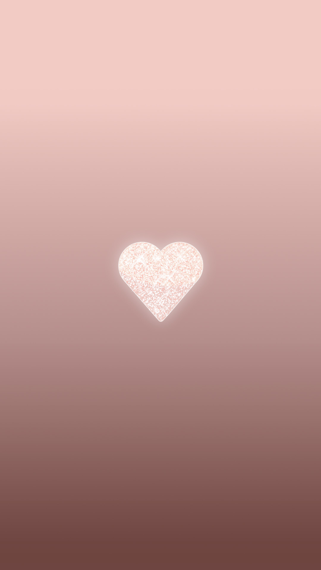 Res: 1080x1920, Rose Gold Heart, phone wallpaper, background, lock screen
