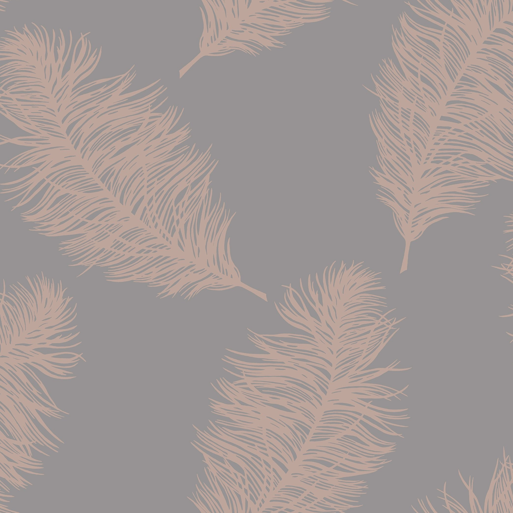 Res: 2087x2087, Holden Statement Wallpaper - Fawning Feather Grey and Rose Gold- 12629