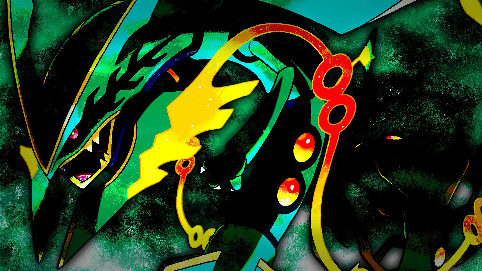 Res: 1920x1080, Shiny Mega Rayquaza Wallpaper - WallpaperSafari