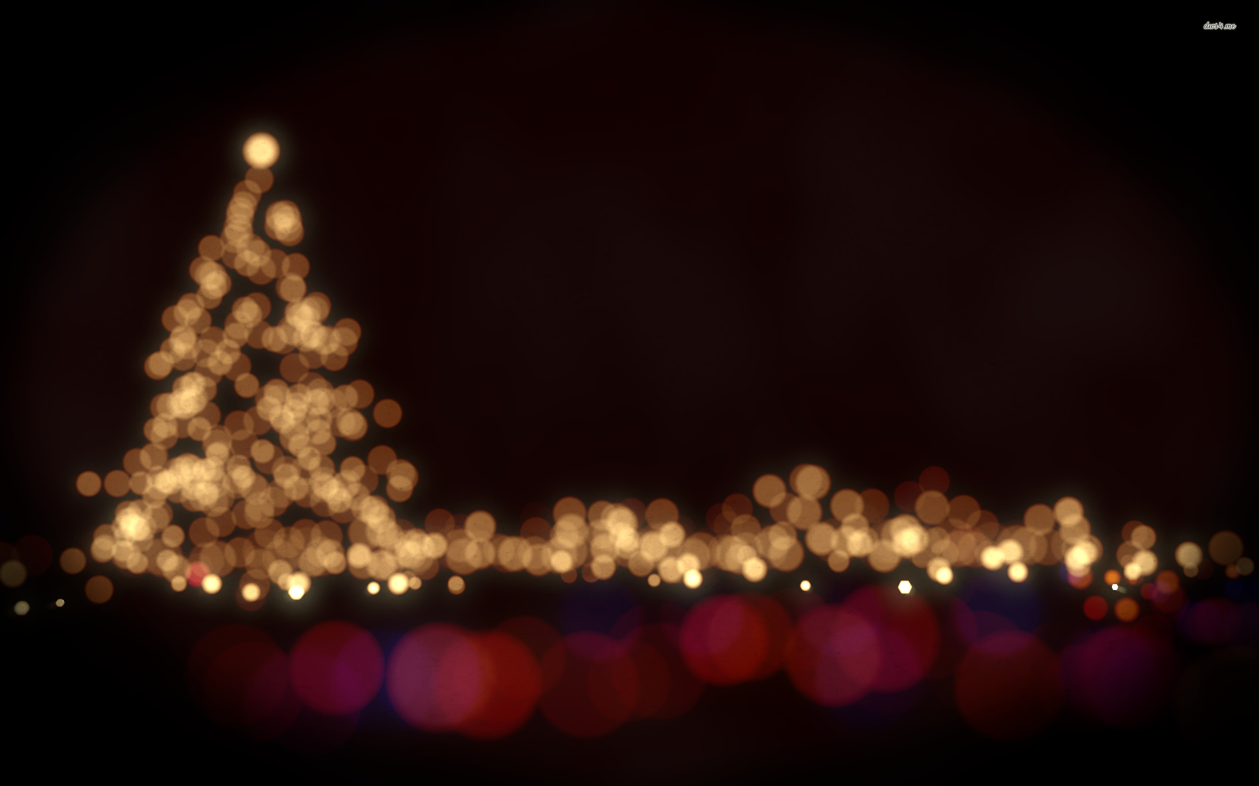 Res: 2560x1600, ... Blurry Christmas tree lights wallpaper  ...