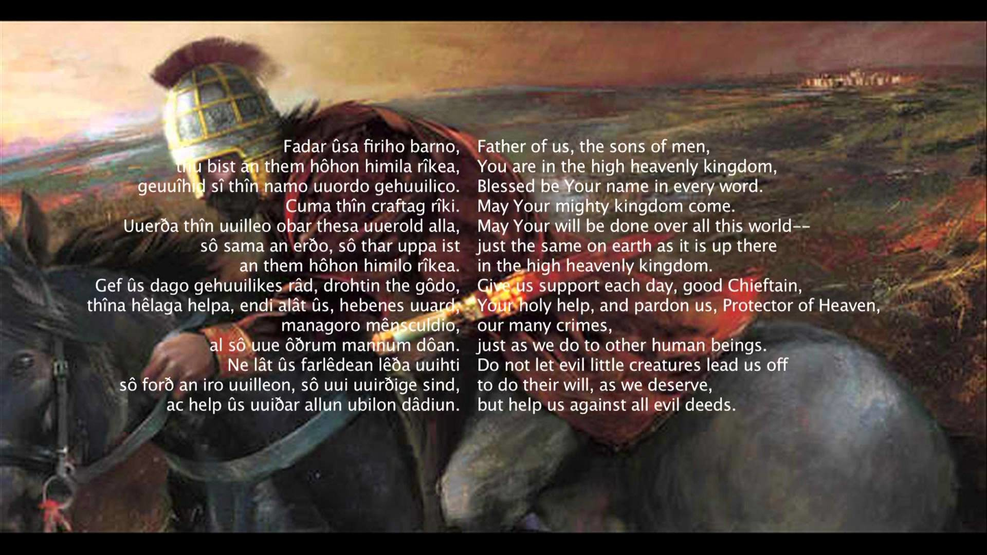Res: 1920x1080, The Lord's Prayer in Old Saxon