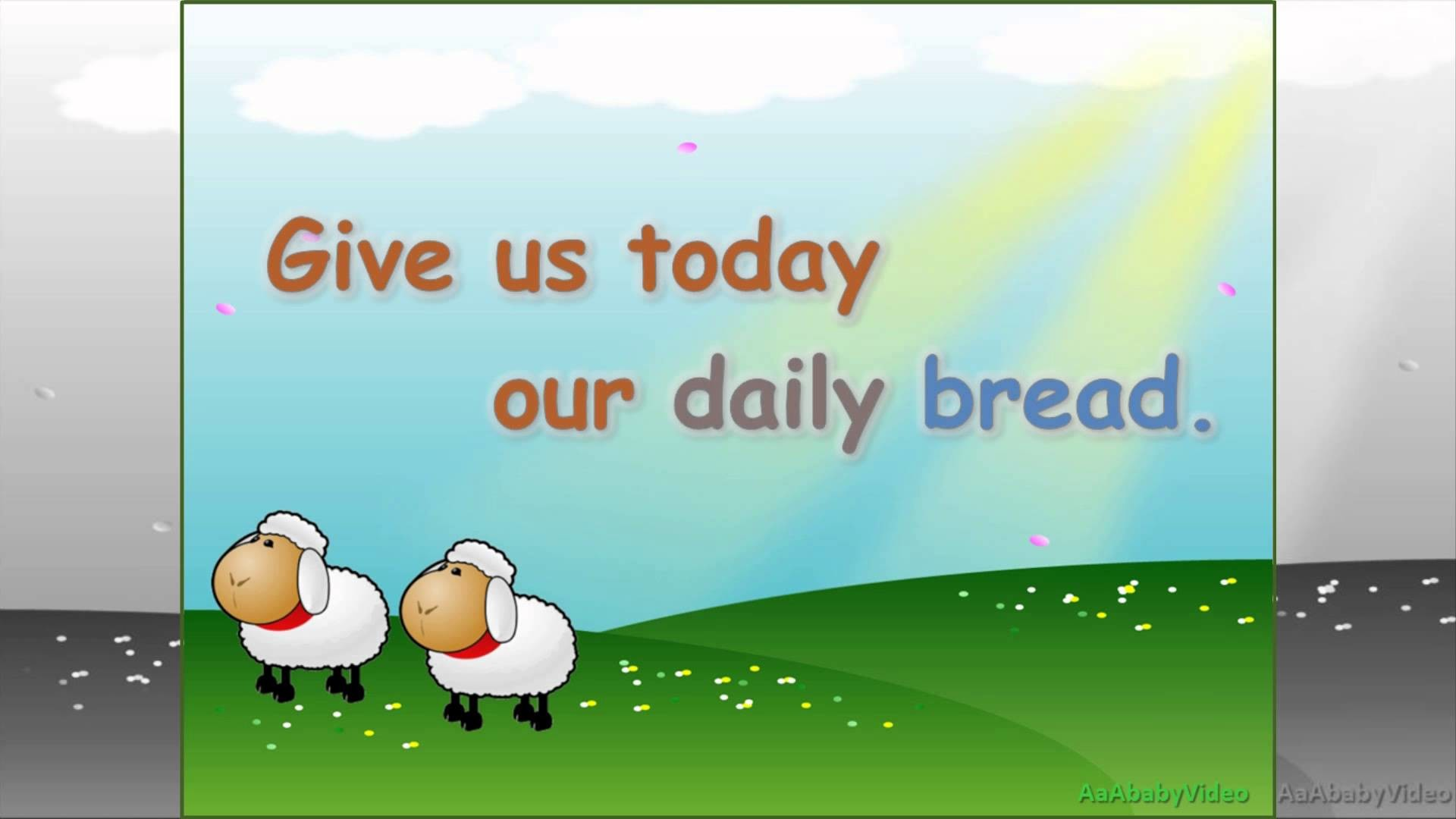 Res: 1920x1080, Learn Our Father Prayer / The Lord's Prayer for Children & Kids - HD Read  Along Nursery Rhymes - YouTube