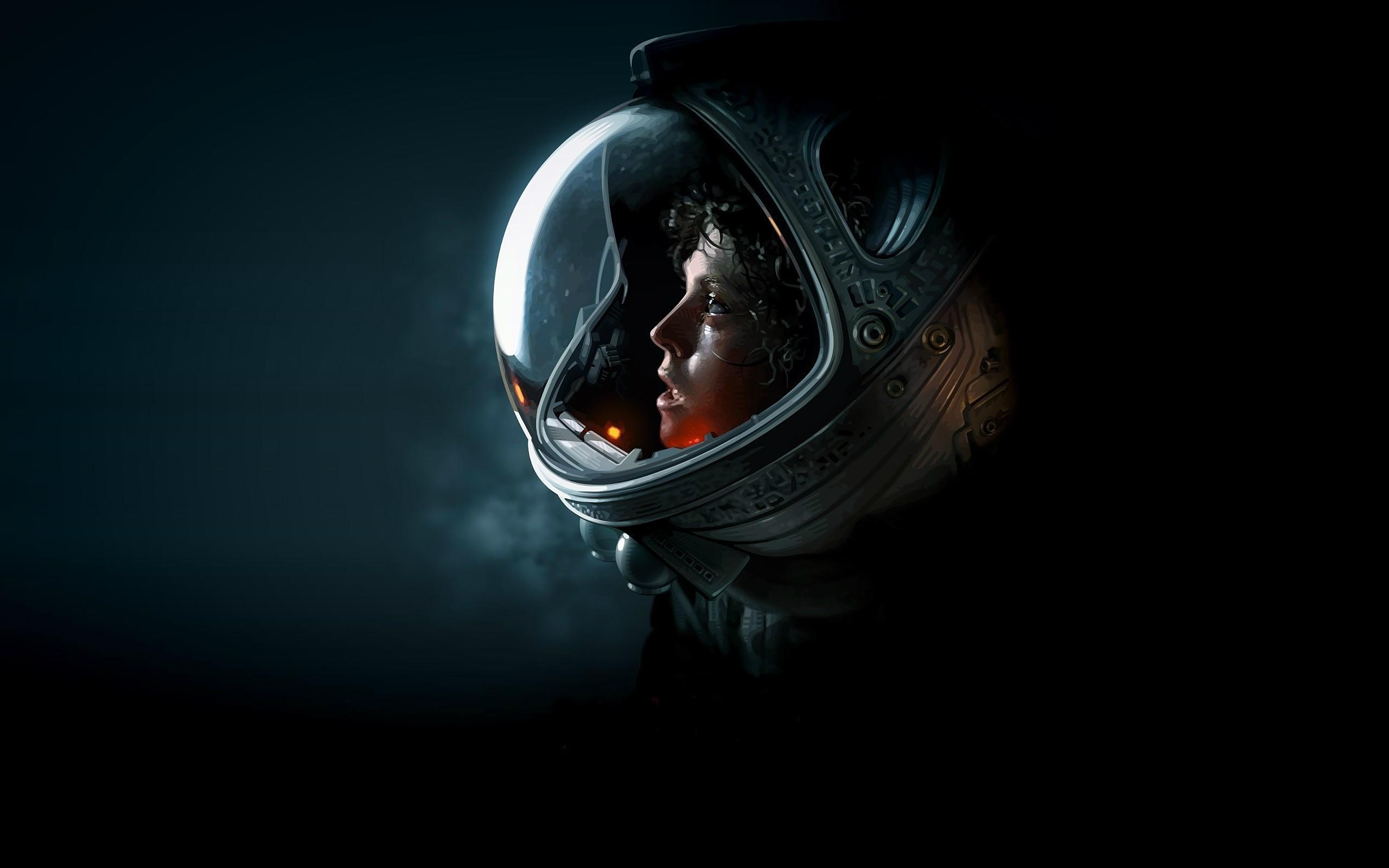Res: 2560x1600,  Alien (movie), Sigourney Weaver, Ellen Ripley, Artwork, Science  Fiction, Space Suit Wallpapers HD / Desktop and Mobile Backgrounds