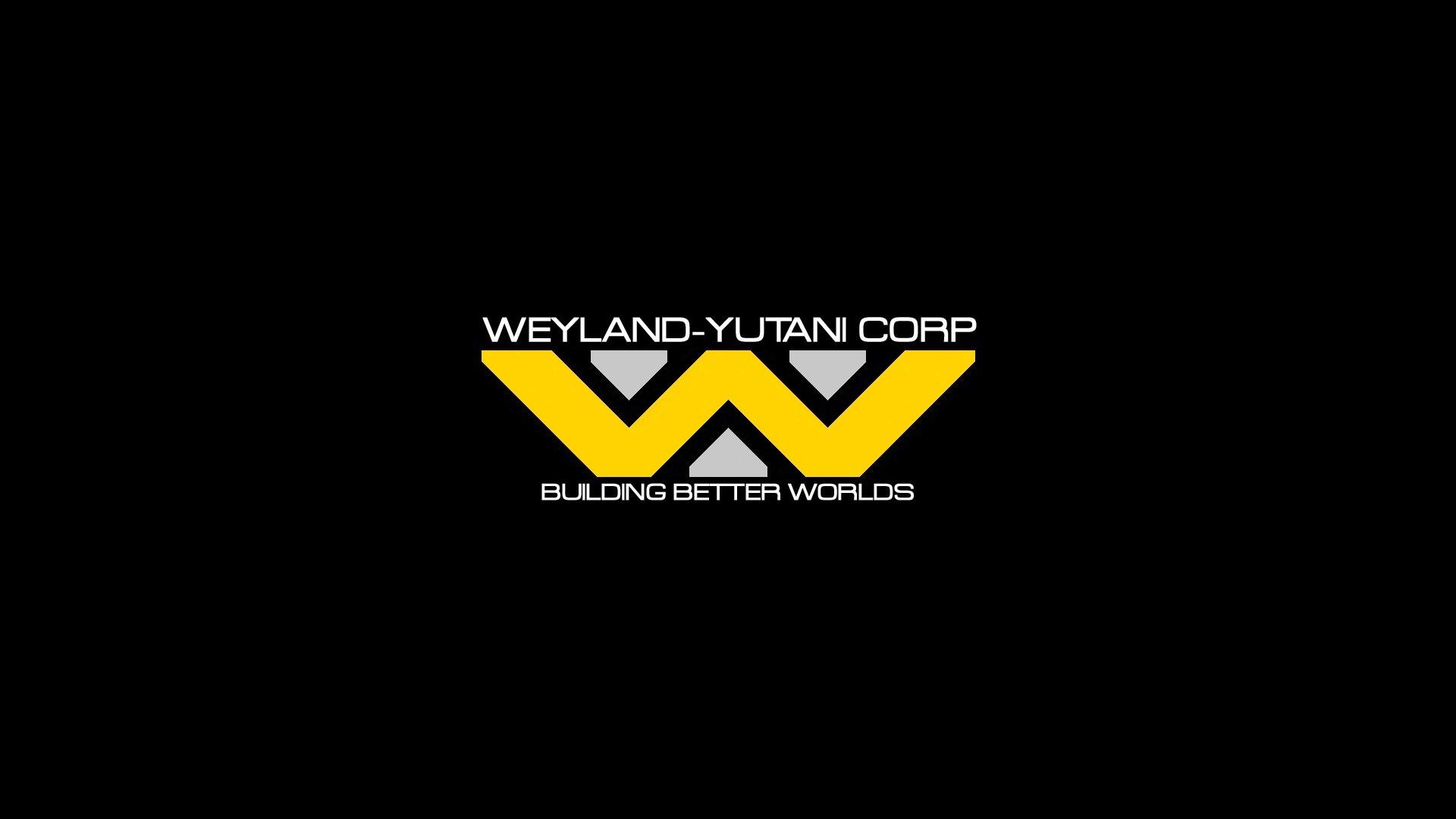 Res: 1920x1080, Weyland Yutani Corporation, Black Background, Logo, Typography, Minimalism,  Aliens (movie) Wallpapers HD / Desktop and Mobile Backgrounds