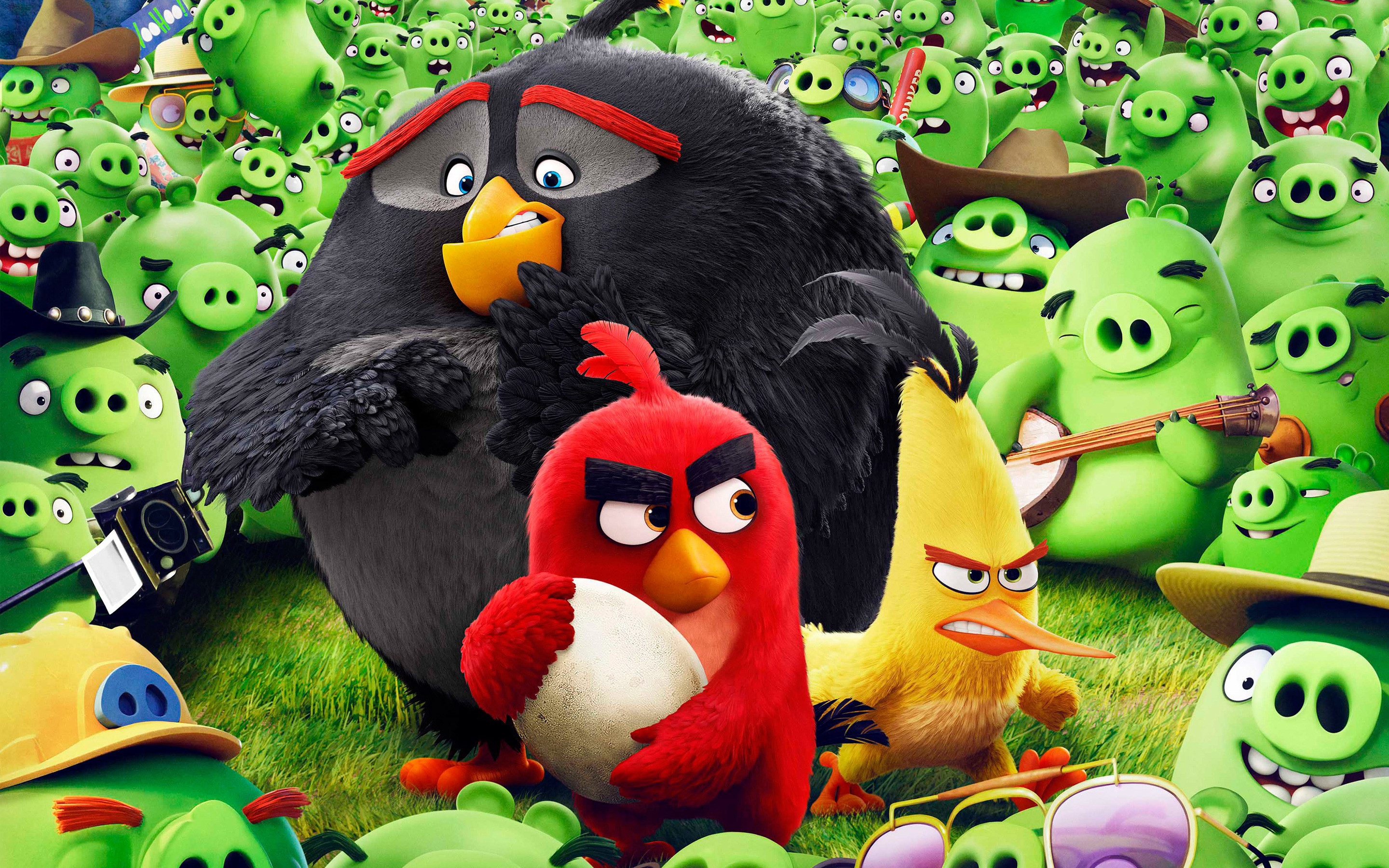 Res: 2880x1800, Angry Birds Animation Movie HD Wallpaper.