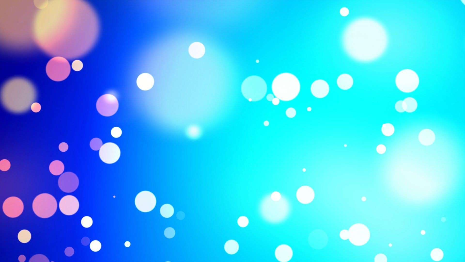 Res: 1920x1080, Blue particles wind bokeh - HD animated background #49