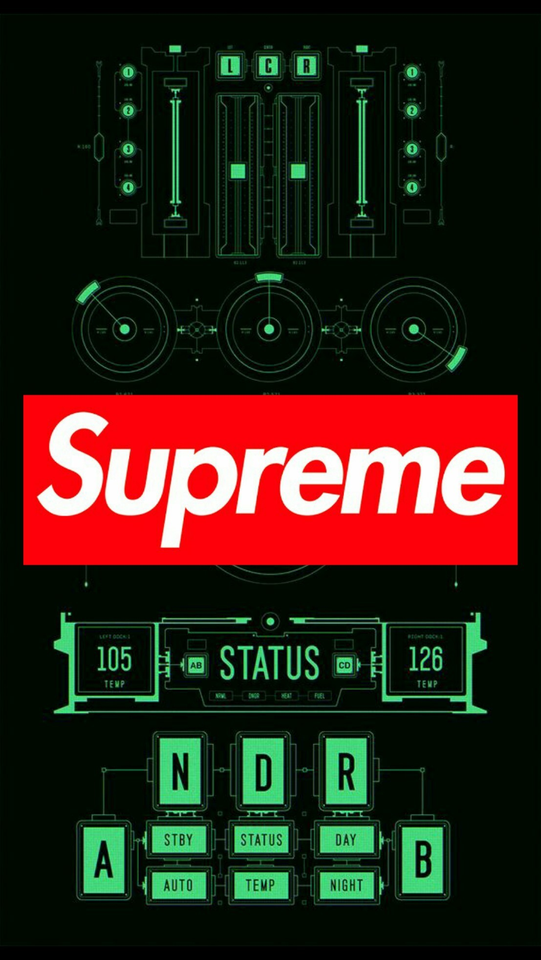 Res: 1107x1965, Supreme Wallpaper For Android