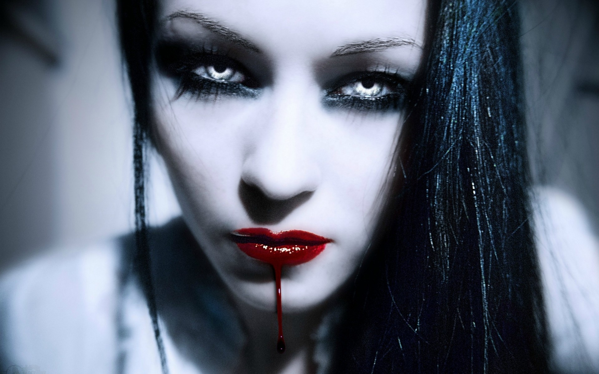 Res: 1920x1200, Dark horror fantasy gothic vampire women face blood wallpaper |  |  29375 | WallpaperUP