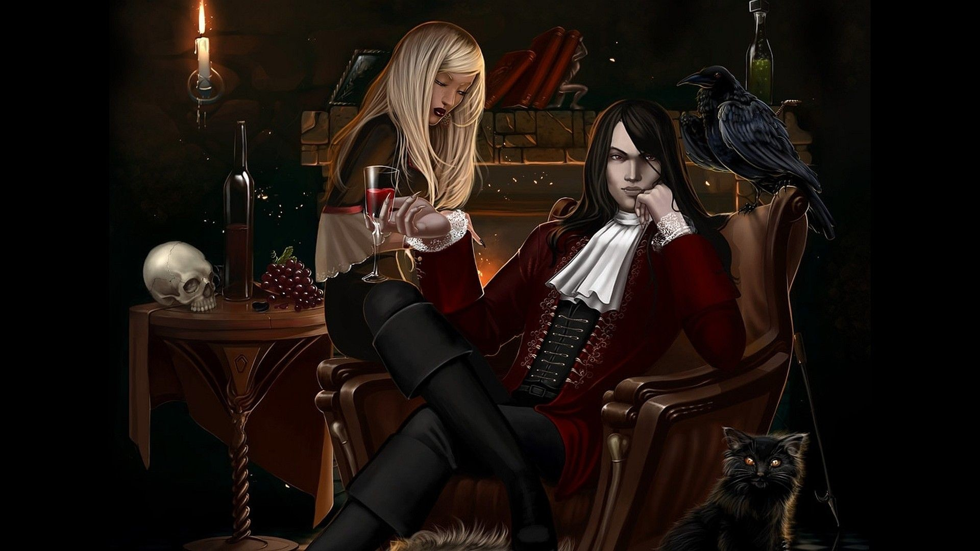 Res: 1920x1080, cool Gothic Vampire Wallpaper