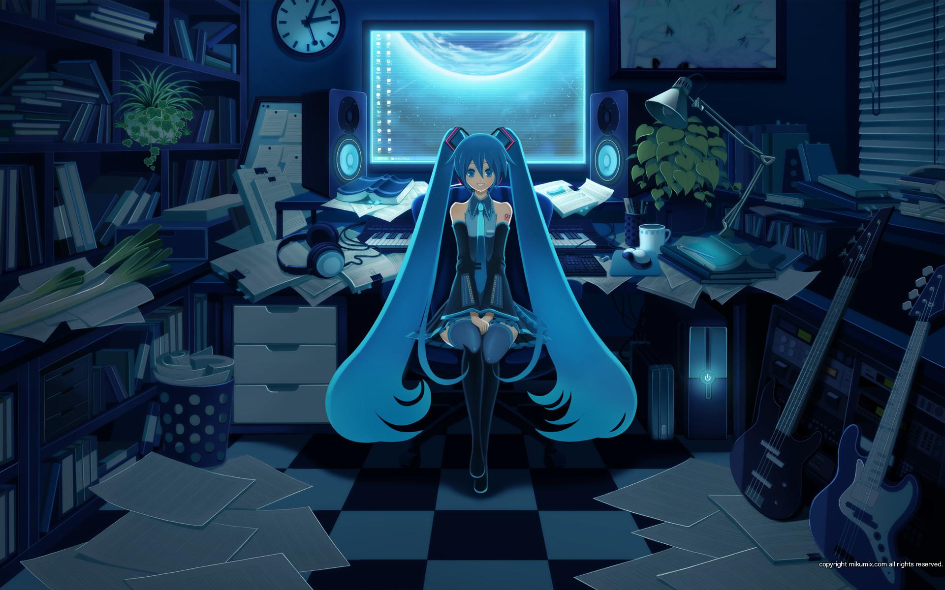Res: 1920x1200, Anime Gamer Girl Background Wallpaper 21372